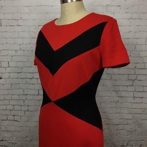 a2a51ba65edf Vince Camuto Dresses - Vince Camuto Size 6 Dress Color Block Chevron
